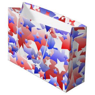 Patriotic Stars Large Gift Bag
