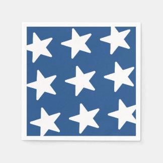 Patriotic Stars Pattern - Blue Disposable Napkin