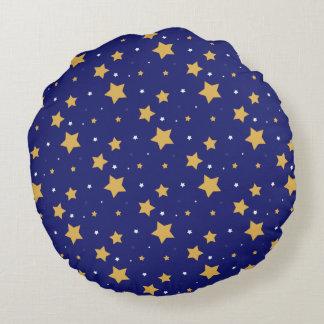 Patriotic Stars Round Accent Pillow