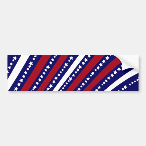 Patriotic Stars Stripes Freedom Flag 4th of July Bumper Stickers