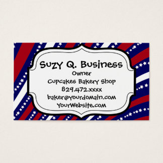 Patriotic Stars Stripes Freedom Flag 4th of July Business Card