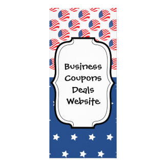 Patriotic Stars Stripes Freedom Flag 4th of July Rack Cards