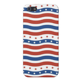 Patriotic Stars Stripes Freedom Flag Fourth of Jul Cover For iPhone 5/5S