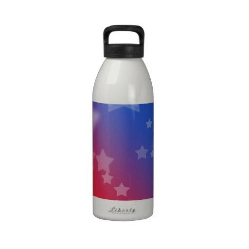 Patriotic Stars Drinking Bottle