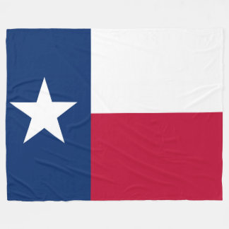 Patriotic State Flag of Texas Fleece Blanket