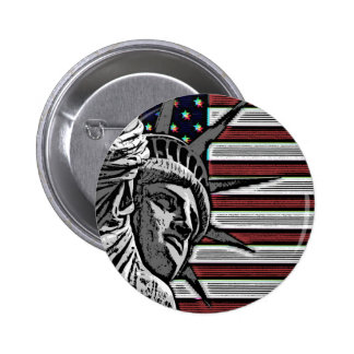 Patriotic Statue of Liberty 2 Inch Round Button