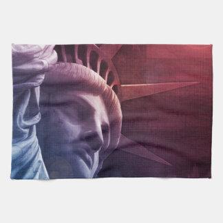 Patriotic Statue of Liberty Hand Towel