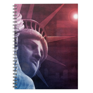 Patriotic Statue of Liberty Note Book