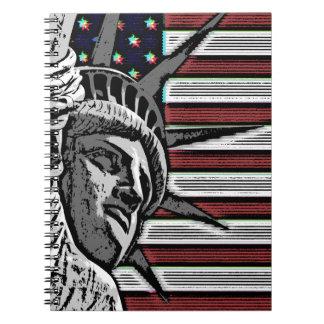 Patriotic Statue of Liberty Notebooks