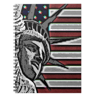 Patriotic Statue of Liberty Spiral Notebooks