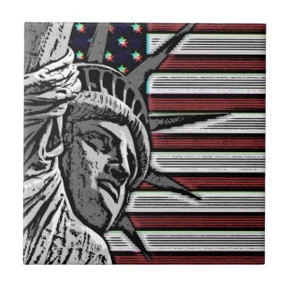 Patriotic Statue of Liberty Tile