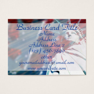 Patriotic Statue of Liberty USA Business Cards