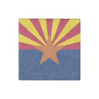 Patriotic stone magnet with Flag of Arizona