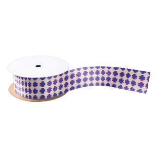Patriotic Stripes and Polka Dots Satin Ribbon