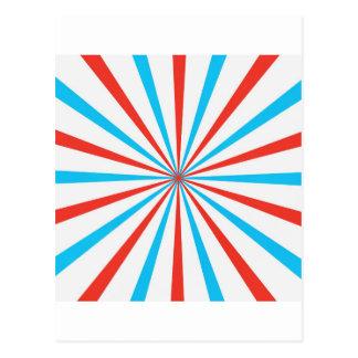 Patriotic Stripes Postcard