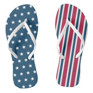 Patriotic Summer Flip Flops Cruise Sandals Gift