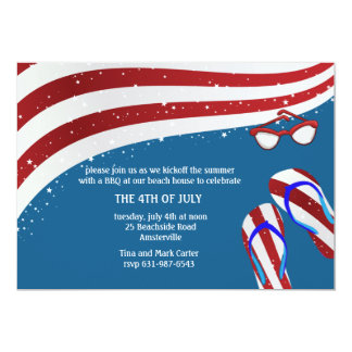 Patriotic Summer Fun Invitation