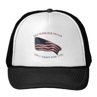 patriotic support troops trucker hat