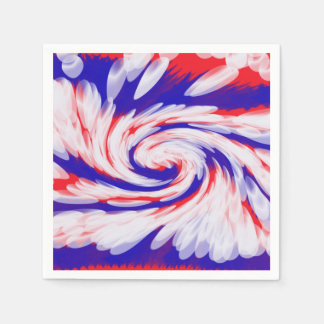Patriotic Swirl Abstract Disposable Napkins