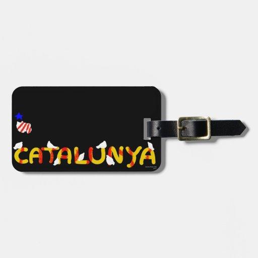 Patriotic Symbol, Catalonia freedom , Catalunya Luggage Tags