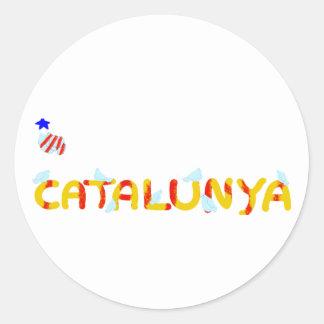 Patriotic Symbol Catalonia freedom Catalunya Round Sticker