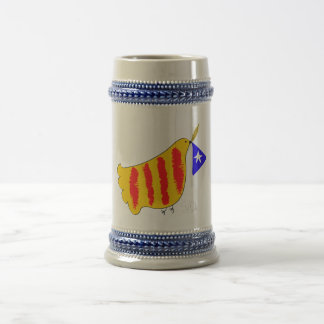Patriotic Symbol, Catalonia freedom dove Catalunya Beer Stein