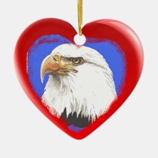 Patriotic Symbols Heart Ornament