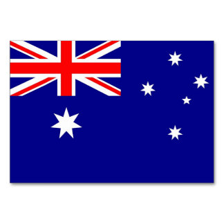 Patriotic table card with Flag of Australia