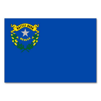 Patriotic table card with Flag of Nevada