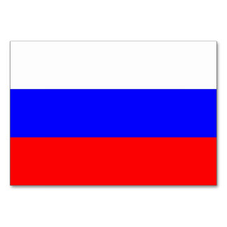 Patriotic table card with Flag of Russia
