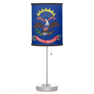 Patriotic table lamp with Flag of North Dakota