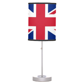 Patriotic table lamp with Flag of United Kingdom