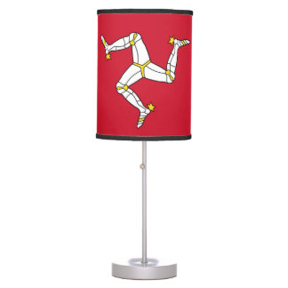Patriotic table lamp with Isle of Man Flag, UK
