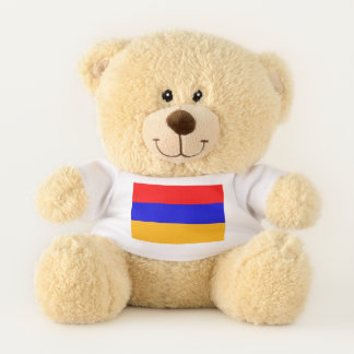 Patriotic Teddy Bear flag of Armenia