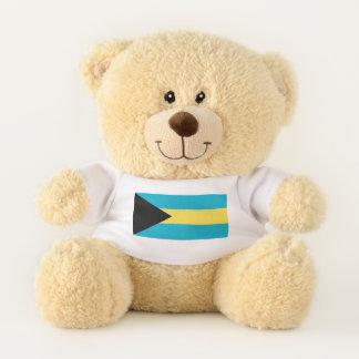 Patriotic Teddy Bear flag of Bahamas