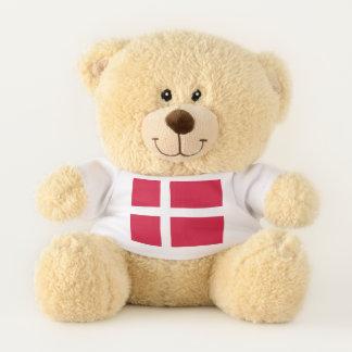 Patriotic Teddy Bear flag of Denmark