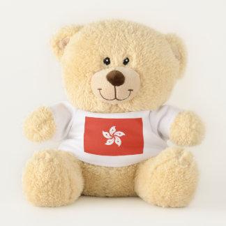 Patriotic Teddy Bear flag of Hong Kong