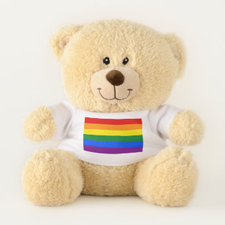 Patriotic Teddy Bear flag of LGBT