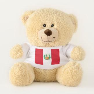 Patriotic Teddy Bear flag of Peru