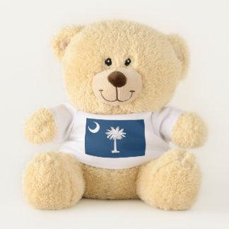 Patriotic Teddy Bear flag of South Carolina, USA