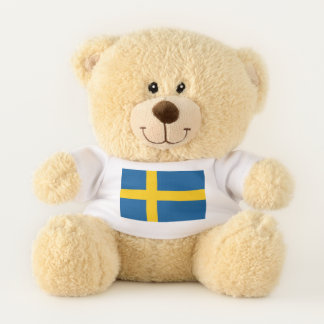 Patriotic Teddy Bear flag of Sweden