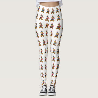 Patriotic Teddy Bear Leggings