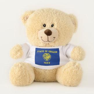 Patriotic Teddy Bear with flag of Oregon, USA