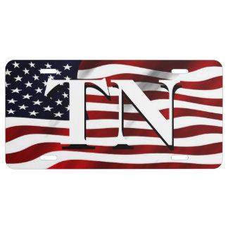 Patriotic Tennessee License Plate