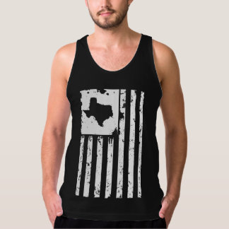 Patriotic Texas and American Flag Tank Top