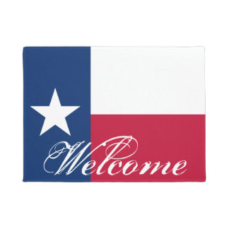 Patriotic Texas flag door mat for Texan home