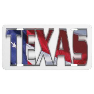 Patriotic Texas License Plate