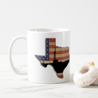Patriotic Texas Oil Drilling Rig Coffee Mug