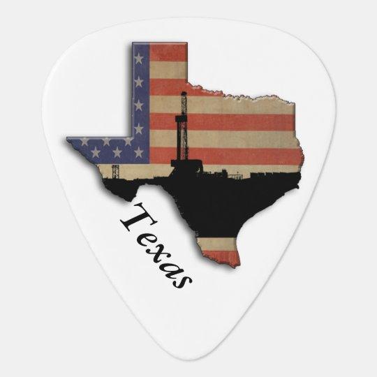Patriotic Texas Oil Drilling Rig Pick
