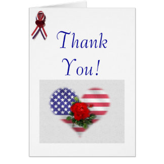Patriotic Thank You Card